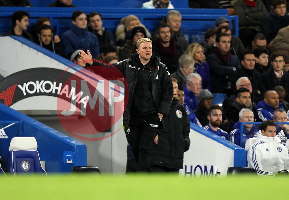 Bournemouth Manager Eddie Howe - Mandatory byline: Robbie Stephenson/JMP - 05/12/2015 - Football - Stamford Bridge - London, England - Chelsea v AFC Bournemouth - Barclays Premier League