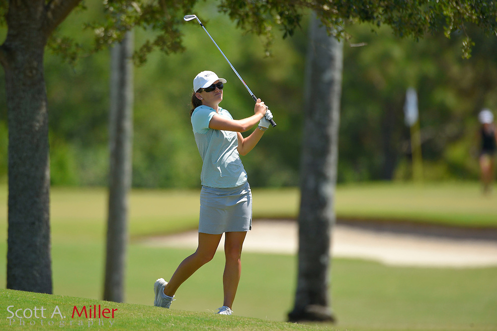 Cindy LaCrosse during the final round of the Chico's Patty Berg Memorial on April 19, 2015 in Fort Myers, Florida. The tournament feature golfers from both the Symetra and Legends Tours.<br /> <br /> &copy;2015 Scott A. Miller