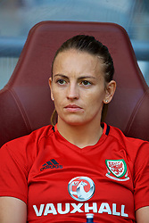 ASTANA, KAZAKHSTAN - Saturday, September 16, 2017: Wales' Kayleigh Green on the bench after training at the Astana Arena ahead of the FIFA Women's World Cup 2019 Qualifying Round Group 1 match against Kazakhstan. (Pic by David Rawcliffe/Propaganda)