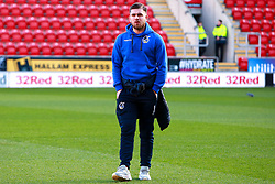 Josh Barrett of Bristol Rovers inspects the pitch at the Aesseal New York Stadium - Mandatory by-line: Ryan Crockett/JMP - 18/01/2020 - FOOTBALL - Aesseal New York Stadium - Rotherham, England - Rotherham United v Bristol Rovers - Sky Bet League One
