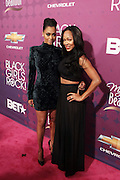 October 13, 2012- Bronx, NY: On-Air Personality La la Vasquez and Actress Meagan Goode at the Black Girls Rock! Awards Red Carpet presented by BET Networks and sponsored by Chevy held at the Paradise Theater on October 13, 2012 in the Bronx, New York. BLACK GIRLS ROCK! Inc. is 501(c)3 non-profit youth empowerment and mentoring organization founded by DJ Beverly Bond, established to promote the arts for young women of color, as well as to encourage dialogue and analysis of the ways women of color are portrayed in the media. (Terrence Jennings)