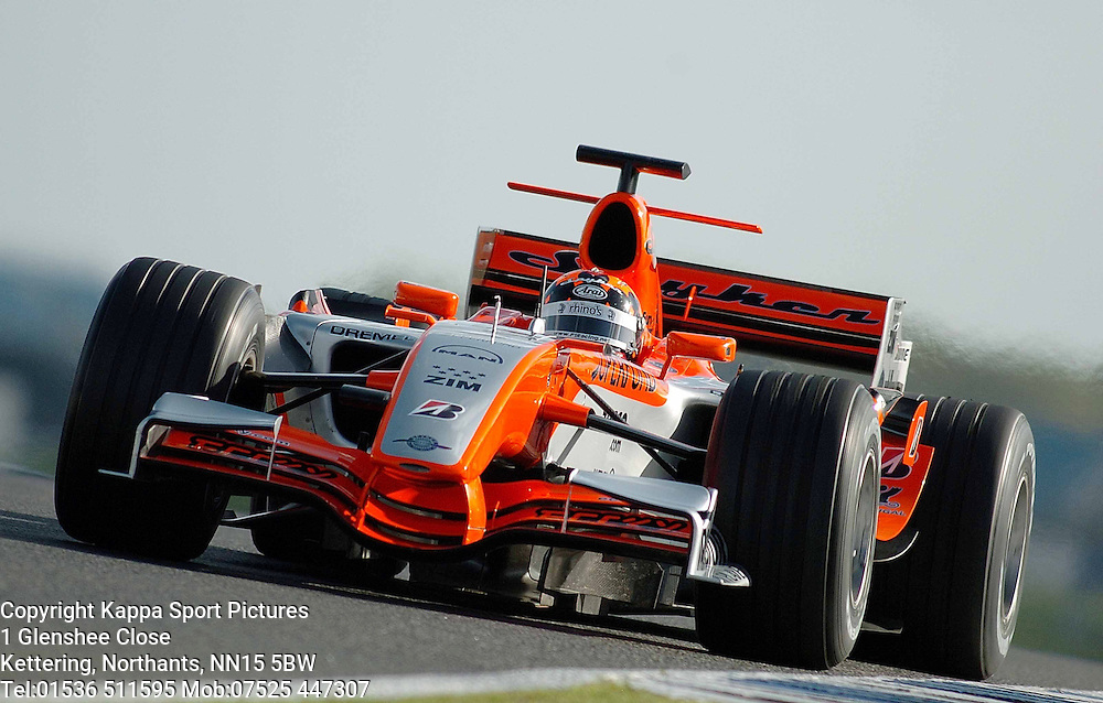 CHRISTIAN ALBERS Spyker F1 Formula One Test Silverstone 19th September 2006 :Photo Mike Capps