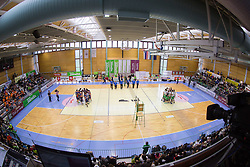 Arena during volleyball game between OK Panvita Pomgrad and ACH Volley in Final of 1st DOL Slovenian National Championship 2014, on April 15, 2014 in Murska Sobota, Slovenia. Photo by Vid Ponikvar / Sportida