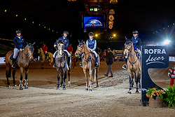 de Proft Anouk, Bruynseels Niels, Luis Felipe Neto de Azevedo, Caro-Belle de Hornois, Team Rofra decor<br /> Jumping Mechelen 2019<br /> © Hippo Foto - Dirk Caremans<br />  26/12/2019