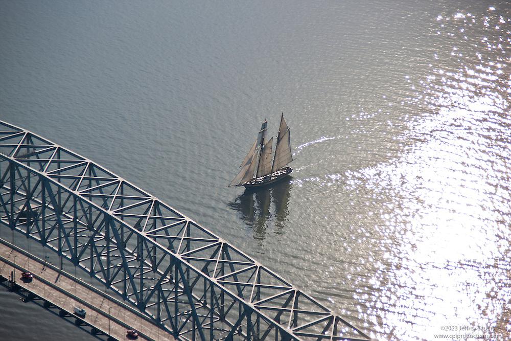Sailing at the Baltimore Key Bridge Pride II