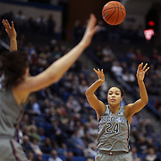 HARTFORD, CONNECTICUT- JANUARY 4: Napheesa Collier #24 of the Connecticut Huskies in action during the UConn Huskies Vs East Carolina Pirates, NCAA Women's Basketball game on January 4th, 2017 at the XL Center, Hartford, Connecticut. (Photo by Tim Clayton/Corbis via Getty Images)