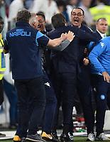 Maurizio Sarri Napoli celebrates at the end of the match. Esultanza <br /> Torino 22-04-2018 Allianz Stadium Football Calcio Serie A 2017/2018 Juventus - Napoli Foto Andrea Staccioli / Insidefoto