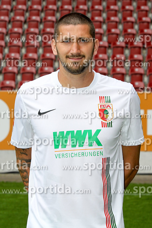 08.07.2015, WWK Arena, Augsburg, GER, 1. FBL, FC Augsburg, Fototermin, im Bild Sascha Moelders #33 (FC Augsburg) // during the official Team and Portrait Photoshoot of German Bundesliga Club FC Augsburg at the WWK Arena in Augsburg, Germany on 2015/07/08. EXPA Pictures © 2015, PhotoCredit: EXPA/ Eibner-Pressefoto/ Kolbert<br /> <br /> *****ATTENTION - OUT of GER*****