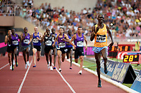 Asbel Kiprop of Kenya (right) competes and wins in 1500m Men during the International Athletics Meeting Herculis, IAAF Diamond League, Monaco on July 17, 2015 at Louis II  stadium in Monaco, France - Photo Jean-Marie Hervio / KMSP / DPPI