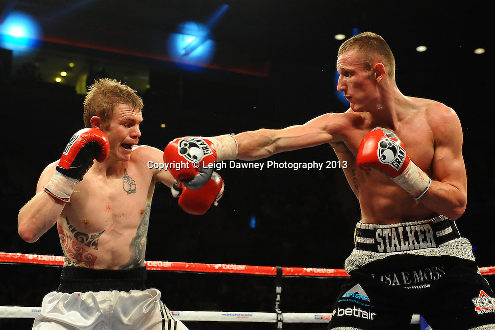 Thomas Stalker defeats Andrew Harris in a 4x3 Light Welterweight contest at the Echo Arena, Liverpool, London, UK on the 30th March 2013. Matchroom Sport © Leigh Dawney Photography 2013.