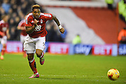 Nottingham Forest forward Britt Assombalonga (9) during the EFL Sky Bet Championship match between Nottingham Forest and Aston Villa at the City Ground, Nottingham, England on 4 February 2017. Photo by Jon Hobley.