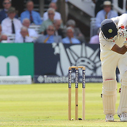 India's Cheteshwar Pujara during the first day of the Investec 2nd Test match between England and India at Lords, London, 17th July 2014 © Phil Duncan | SportPix.org.uk