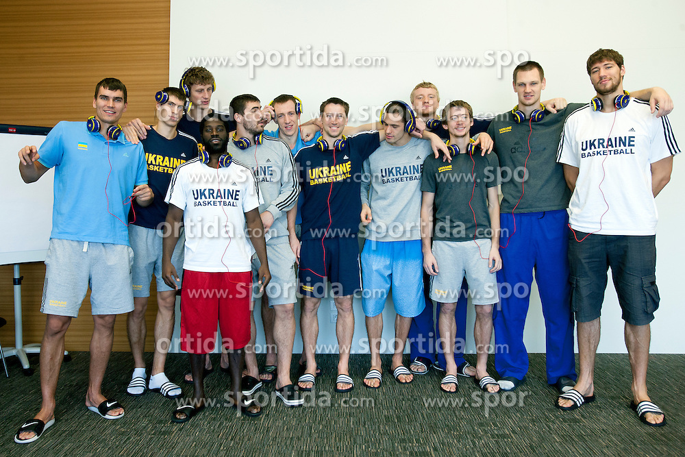 Players of team Ukraine at Day 18 of Eurobasket 2013 on September 21, 2013 in Plaza Hotel, Ljubljana, Slovenia. (Photo By Urban Urbanc / Sportida)