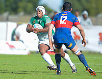 GEORGE, SOUTH AFRICA - SEPTEMBER 24: Lee-roy Poje of RSK Evergreens during the Gold Cup 2016 match between RSK Evergreens and Pirates at Pacaltsdorp Sports Ground on September 24, 2016 in George, South Africa. (Photo by Roger Sedres/Gallo Images)