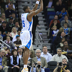 21 January 2009:  New Orleans Hornets guard Rasual Butler (45) shoots during a 102-92 win by the New Orleans Hornets over the New Jersey Nets at the New Orleans Arena in New Orleans, LA. .