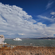 Mono Lake North Shore Wide View - Incoming Storm