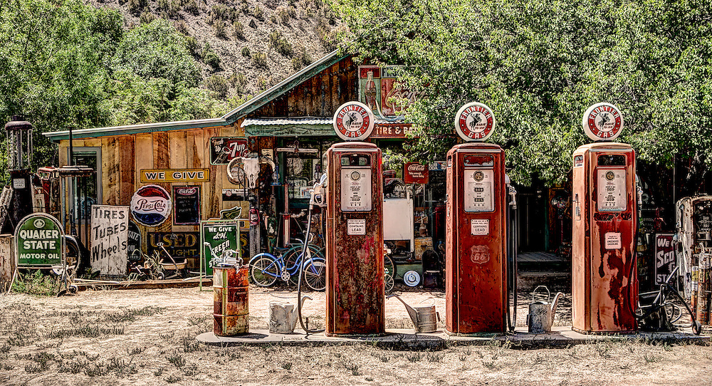 Old Gas Station in New Mexico