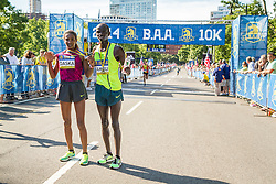 Boston Athletic Association 10K road race: repeat winner Mamitu Daska, Stephen Sambu