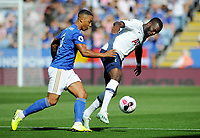 Football - 2019 / 2020 Premier League - Leicester City vs. Tottenham Hotspur<br /> <br /> Tanguy Ndombele of Tottenham tussles with Youri Tielemans of Leicester, at The King Power Stadium.<br /> <br /> COLORSPORT/ANDREW COWIE