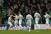 Celtic's John Guidetti is congratulated after scoring - Celtic v Dundee, SPFL Premiership at Celtic Park<br /> <br />  - © David Young - www.davidyoungphoto.co.uk - email: davidyoungphoto@gmail.com