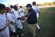 Sparky Reardon throws out the ceremonial first pitch before Ole Miss vs. Auburn at Oxford-University Stadium in Oxford, Miss. on Friday, April 4, 2014. Mississippi won 8-5.
