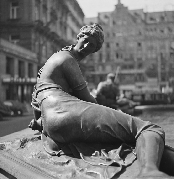 Donner fountain, Vienna, Austria, 1938