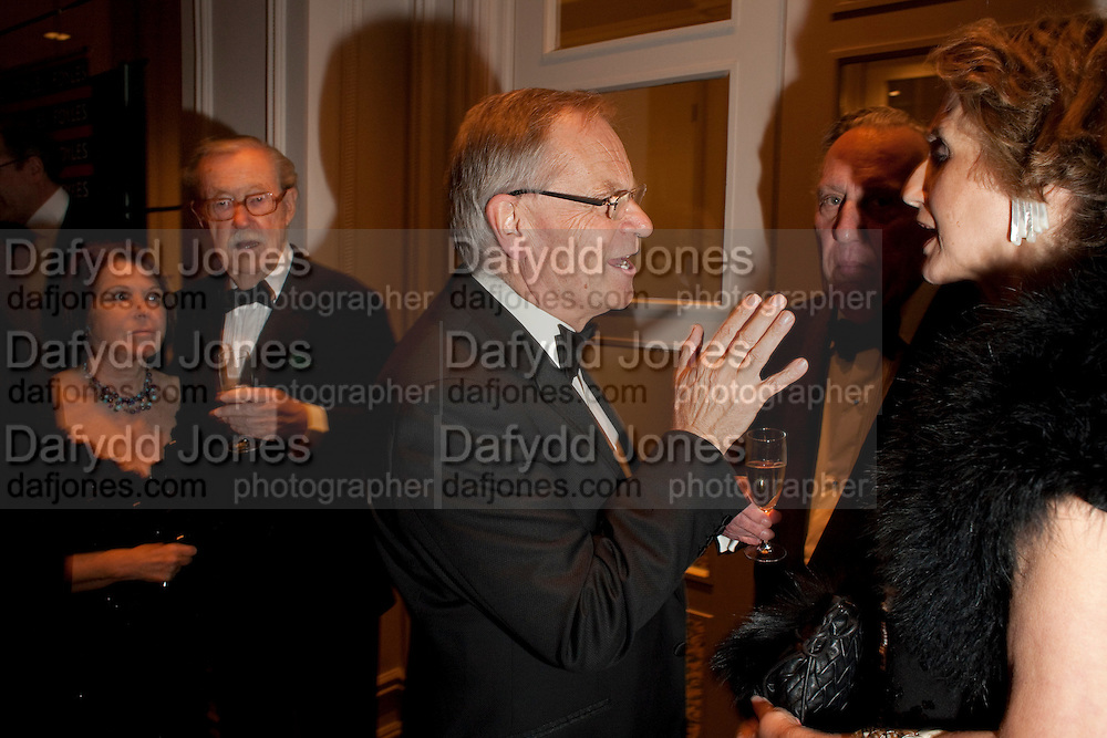 LADY WHICKER; SIR ALAN WHICKER; LORD JEFFREY ARCHER; FREDERICK FORSYTH; LADY FORSYTH, , 80th anniversary gala dinner for the FoylesÕ Literary Lunch. Ballroom. Grosvenor House Hotel. Park Lane. London. 21 October 2010. -DO NOT ARCHIVE-© Copyright Photograph by Dafydd Jones. 248 Clapham Rd. London SW9 0PZ. Tel 0207 820 0771. www.dafjones.com.<br /> LADY WHICKER; SIR ALAN WHICKER; LORD JEFFREY ARCHER; FREDERICK FORSYTH; LADY FORSYTH, , 80th anniversary gala dinner for the Foyles' Literary Lunch. Ballroom. Grosvenor House Hotel. Park Lane. London. 21 October 2010. -DO NOT ARCHIVE-© Copyright Photograph by Dafydd Jones. 248 Clapham Rd. London SW9 0PZ. Tel 0207 820 0771. www.dafjones.com.
