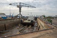 Saint Nazaire, 29/10/2014: Cantieri Navali,  Forme Ecluse - Shipyard,<br /> &copy; Andrea Sabbadini
