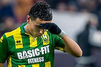 AMSTERDAM - Ajax - ADO , Voetbal , Eredivisie , Seizoen 2016/2017 , Amsterdam ArenA , 29-01-2017 ,  eindstand 3-0 , ADO Den Haag speler Achraf El Mahdioui baalt