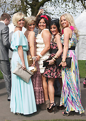 LIVERPOOL, ENGLAND - Friday, April 9, 2010: Female race-goers attends Ladies' Day during the second day of the Grand National Festival at Aintree Racecourse. (Pic by David Tickle/Propaganda)