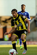 Burton Albion forward Abdenasser El Khayati puts through a pass during the Sky Bet League 1 match between Chesterfield and Burton Albion at the Proact stadium, Chesterfield, England on 26 September 2015. Photo by Aaron Lupton.