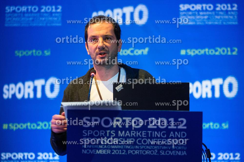 Zoran Gabrijan of Futura DDB during sports marketing and sponsorship conference Sporto 2012, on November 26, 2012 in Hotel Slovenija, Congress centre, Portoroz / Portorose, Slovenia. (Photo By Vid Ponikvar / Sportida.com)