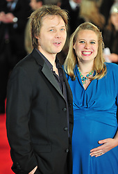 © Licensed to London News Pictures. 24/01/2012. London, England. Shaun Dooley and Polly Cameron attends the world premiere of The Woman in Black , Hammer Films new horror movie at The Royal Festival hall  London  Photo credit : ALAN ROXBOROUGH/LNP