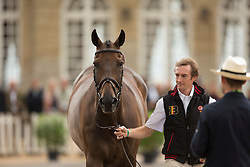 Constantin Van Rijckevorsel, (BEL), Goodwins Reef - First Horse Inspection  - Alltech FEI World Equestrian Games™ 2014 - Normandy, France.<br /> © Hippo Foto Team - Dirk Caremans<br /> 25/06/14
