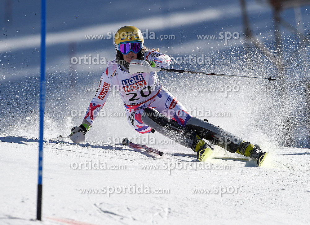 14.02.2015, Birds of Prey, Beaver Creek, USA, FIS Weltmeisterschaften Ski Alpin, Vail Beaver Creek 2015, Damen, Slalom, 2. Durchgang, im Bild Laurie Mougel (FRA) // Laurie Mougel of France in action during 2nd run of the ladie's Slalom of FIS Ski World Championships 2015 at the Birds of Prey in Beaver Creek, United States on 2015/02/14. EXPA Pictures © 2015, PhotoCredit: EXPA/ Jonas Ericson