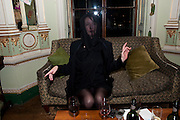 KIM GRAHOME, Philip Sallon's mass paranoia swine flu birthday party. DRESS: DISEASE RELATED OR SWINE, Home House. Portman Sq. London. 13 November 2009.