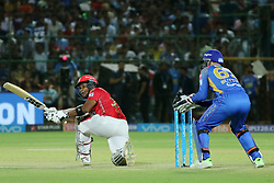 May 8, 2018 - Jaipur, Rajasthan, India - Kings XI Punjab team batsman Akashdeep Nath plays a shot during the IPL T20 match against Rajasthan Royals at Sawai Mansingh Stadium in Jaipur,Rajasthan,India on 8th May,2018.(Photo By Vishal Bhatnagar/NurPhoto) (Credit Image: © Vishal Bhatnagar/NurPhoto via ZUMA Press)