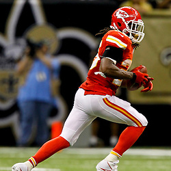 September 23, 2012; New Orleans, LA, USA; Kansas City Chiefs running back Jamaal Charles (25) against the New Orleans Saints during the second half of a game at the Mercedes-Benz Superdome. The Chiefs defeated the Saints 27-24 in overtime. Mandatory Credit: Derick E. Hingle-US PRESSWIRE
