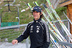 Primoz Peterka going to jump the last time in his very successful career, he is one of the best ski jumpers in history, on July 2, 2011, in Kranj, Slovenia. (Photo by Vid Ponikvar / Sportida)