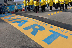 2013 Boston Marathon: start line