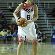 United States Guard Sue Bird (6) attempts to pass the ball in the first half of a USA Women's National Team Exhibition game between Red and White Thursday, Sept. 11, 2014 at The Bob Carpenter Sports Convocation Center in Newark, DEL