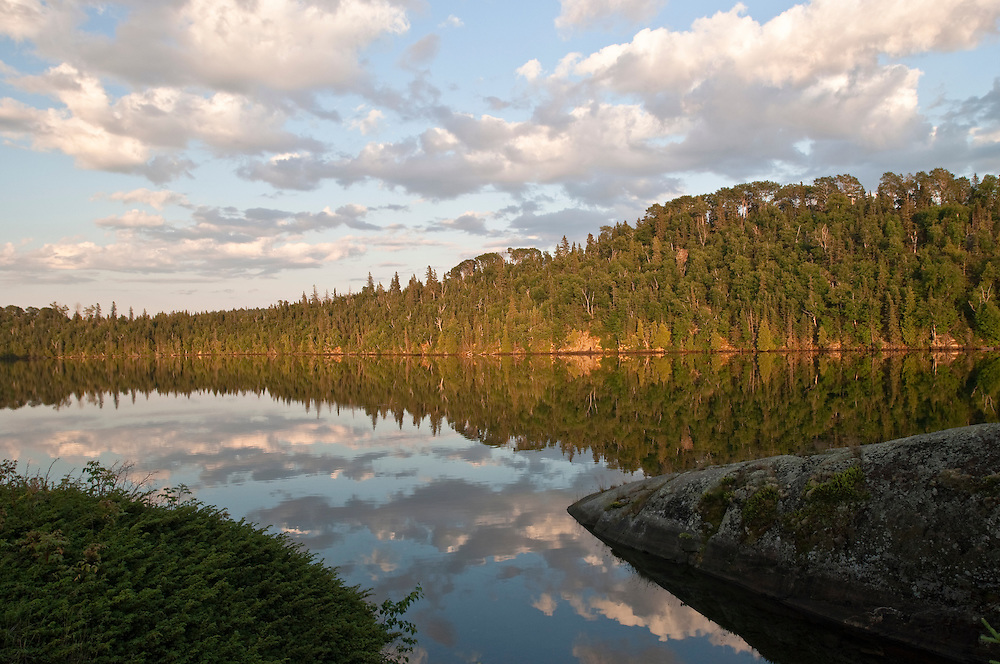 Clouds reflection at a small cove on Isle Royale National Park.