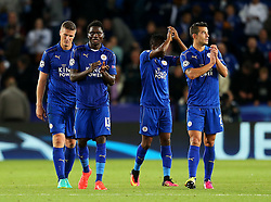 Leicester players applaud the fans at full time - Mandatory by-line: Matt McNulty/JMP - 27/09/2016 - FOOTBALL - King Power Stadium - Leicester, England - Leicester City v FC Porto - UEFA Champions League