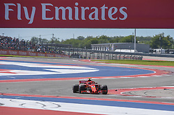 October 21, 2018 - Austin, TX, U.S. - AUSTIN, TX - OCTOBER 21: Ferrari driver Kimi Raikkonen (7) of Finland enjoys open racing during the F1 United States Grand Prix on October 21, 2018, at Circuit of the Americas in Austin, TX. (Photo by Ken Murray/Icon Sportswire) (Credit Image: © Ken Murray/Icon SMI via ZUMA Press)