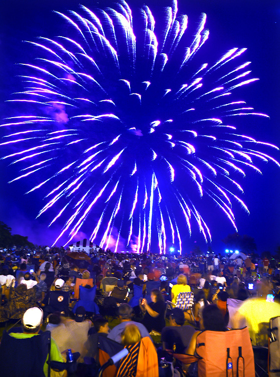 (Mara Lavitt &mdash; New Haven Register) <br /> July 5, 2014 West Haven<br /> With 41 fireworks shows statewide, West Haven had some competition, and it showed in reduction of crowd size. But the fireworks and great weather still entertained those in attendance.<br /> mlavitt@newhavenregister.com
