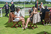 OLIVIA HOUK; ELISABETH GUERIN, Cartier Queen's Cup. Guards Polo Club, Windsor Great Park. 17 June 2012