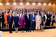 Staatsbezoek aan Luxemburg dag 2 / State visit to Luxembourg day 2<br /> <br /> Op de foto / On the photo: Bijeenkomst Duurzame en Circulaire Economie bij de Kamer van Koophandel met Koning Willem Alexander en koningin Maxima met Groothertog Henri en Groothertogin Maria Teresa / Meeting on Sustainable and Circular Economy at the Chamber of Commerce with King Willem Alexander and Queen Maxima with Grand Duke Henri and Grand Duchess Maria Teresa