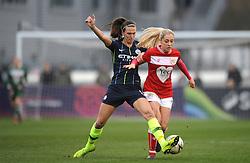 Poppy Pattinson of Bristol City is challenged by Jill Scott of Manchester City Women- Mandatory by-line: Nizaam Jones/JMP - 06/01/2019 - FOOTBALL - Stoke Gifford Stadium- Bristol, England - Bristol City Women v Manchester City Women - FA Women's Super League 1