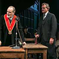 An Enemy of the People by Henrik Ibsen;<br /> Directed by Howard Davies;<br /> Hugh Bonneville as Dr Tomas Stockmann;<br /> William Gaminara as Peter Stockmann;<br /> Alice Orr-Ewing as Petra Stockmann;<br /> Chichester Festival Theatre, Chichester, UK;<br /> 29 April 2016