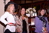 """Tammy Schaff (left) and audience memebers get ready for a fashion show during Mayhem & Mystery's production of """"Fashion Friction"""" at the Spaghetti Warehouse in downtown Dayton, Monday, March 21, 2011."""